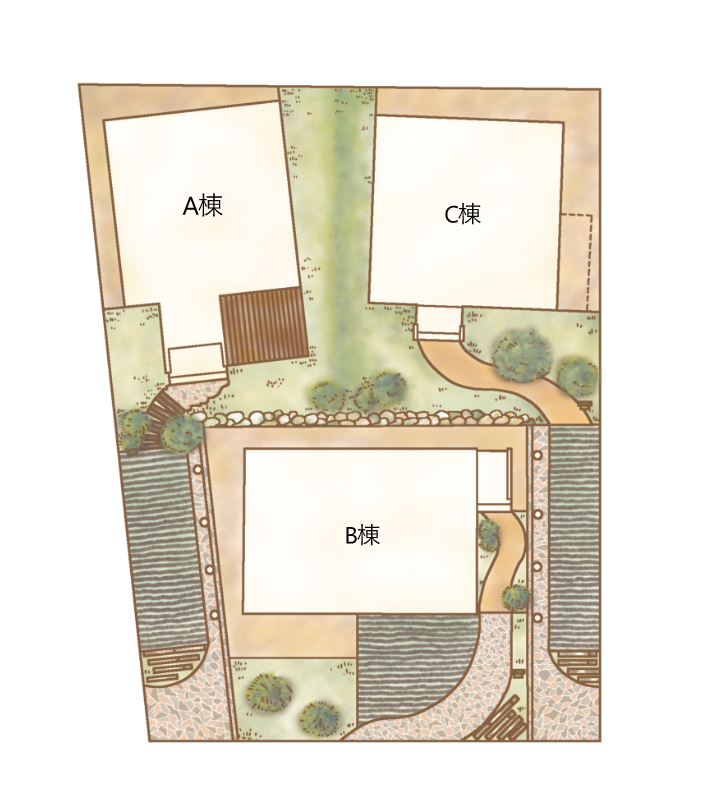名古屋市中川区新家プロジェクト 鳥瞰図
